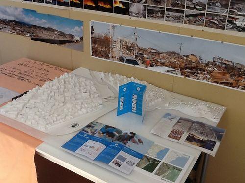 久之浜、浜風商店街の模型を使ったワークショップ